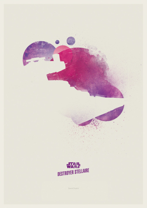 Destroyer Stellaire (Star Wars Star Destroyer)Minimalist Star Wars by David Duphil