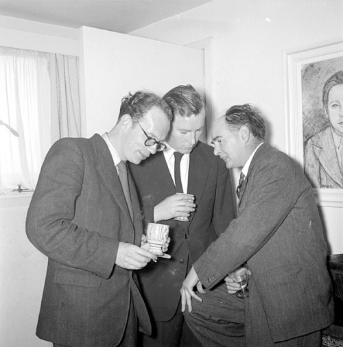 Bloomsday, 1954: Anthony Cronin, John Ryan and Flann O'Brien in Dublin.