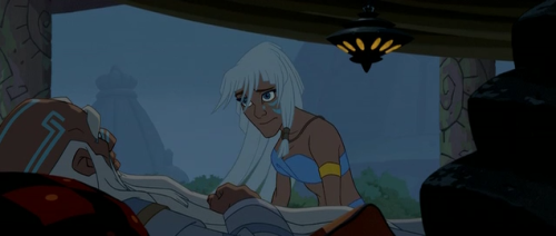Kida talking to her father, from Disney's Atlantis: The Lost Empire