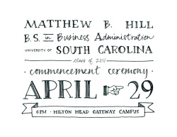 Graduation invitation design for Matthew Hill