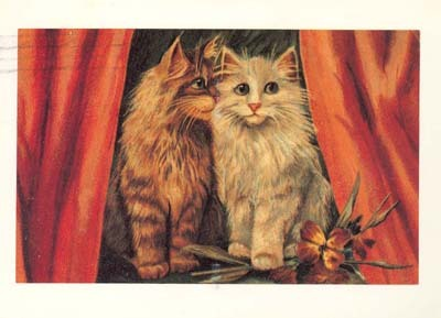 Two little Victorian kitties, adorable.