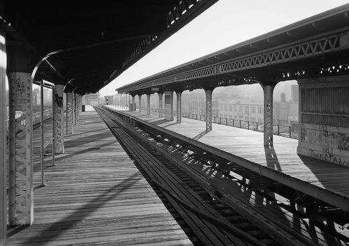 The old Third Ave El at Fordham Rd. The history of the subway is fascinating, promise.