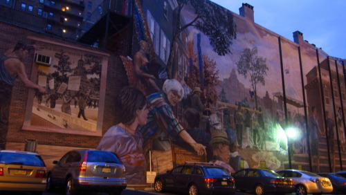 Mural, Bainbridge Street, South Philadelphia.