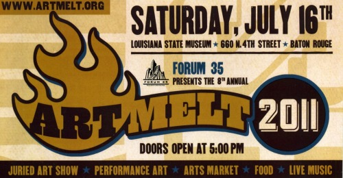 I will be showing a piece in this year's Art Melt, an annual juried art show featuring Louisiana artists! I'm pretty excited about having a painting selected to this show for the first time! The exhibit will be held at the Louisiana State Museum (660 North 4th Street, Baton Rouge, LA) on Saturday, July 16th from 5:00pm to 10:00pm. Opening night is a fun event for the whole family: music, art, food, drinks! Hope to see you there!