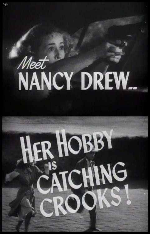Trailer titles for Nancy Drew..Detective (1938)