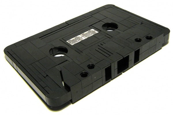 LEGO Cassette Tape. From Colossal.