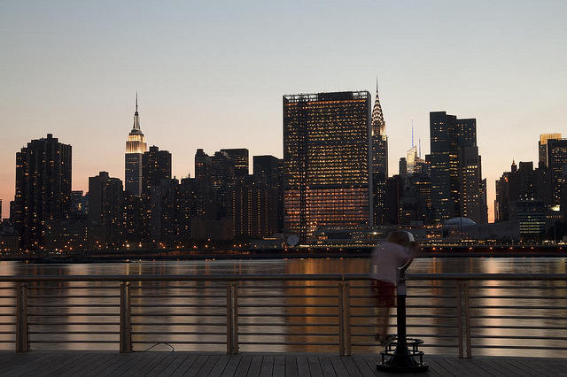 New York Twilight on Flickr.Via Flickr: Gantry Plaza State Park Long Island City, NY.