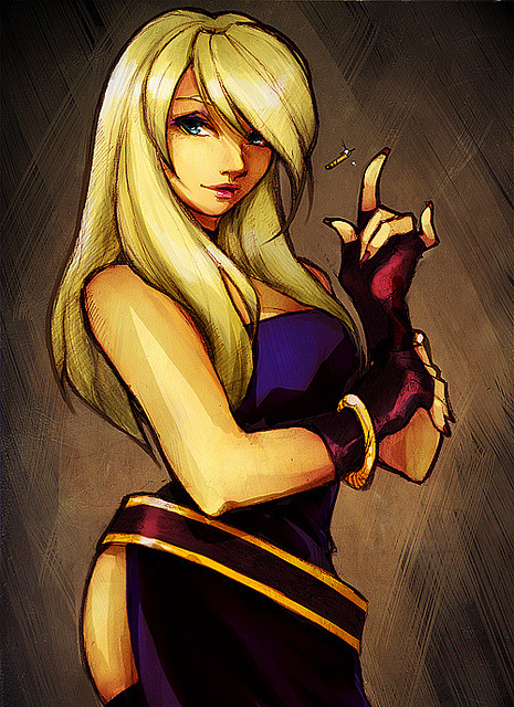 "B.Jenet on Flickr. wanted to draw something ""proper"" today but just ended up (roughly) coloring this sketch instead..but I feel like I ruined it completely OTL………"