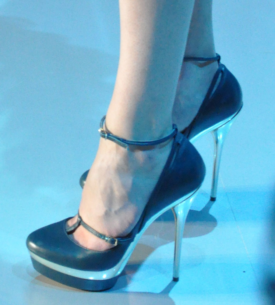 A close up of the Elie Saab Fall 2011 Couture platform heels