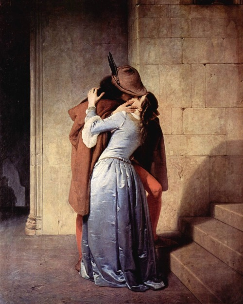 The Kiss 1859 Francesco Hayez   Love, always stay by our sides. never go away, never fade.