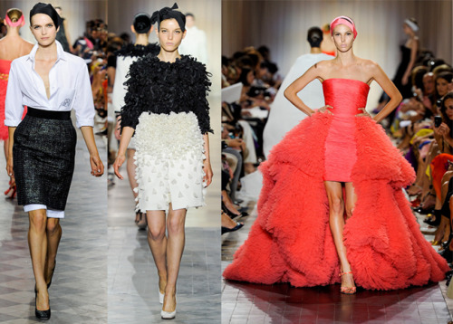 Just three of our favorite looks from Giambattista Valli's fall couture collection.