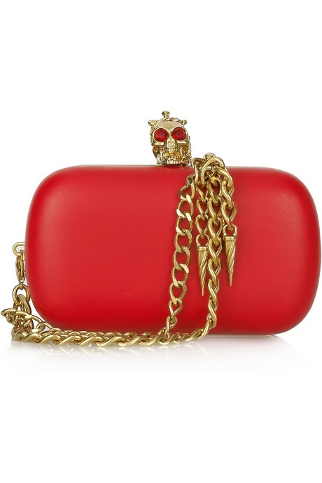 monsieur-j:  Alexander McQueen Military Skull leather box clutch