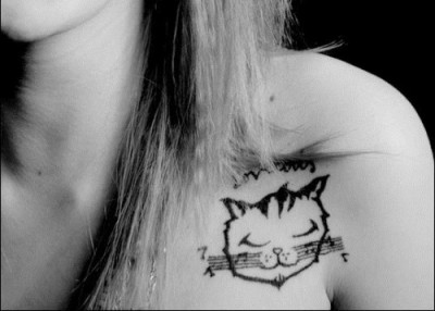 modcatlove:  Cat Tat Tuesday: Musical Kitty Tat