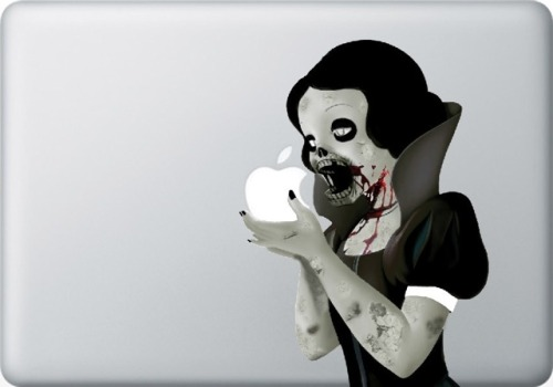 laughingsquid:  Zombie Snow White MacBook Sticker