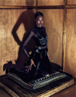Naomi Campbell channeling her inner feline for Givenchy's fall 2011 campaign
