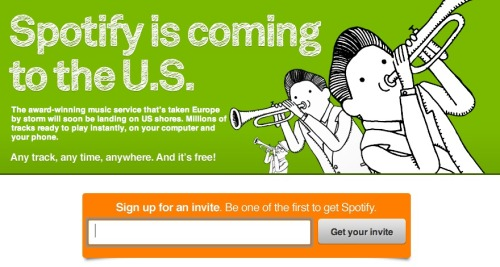 laughingsquid:  Official: Spotify Announces It's Coming to the US