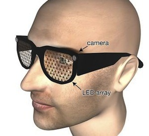 New Glasses Give The Blind Bionic Eyes, even ones that don't look like Moby. These glasses feature tiny forward-f