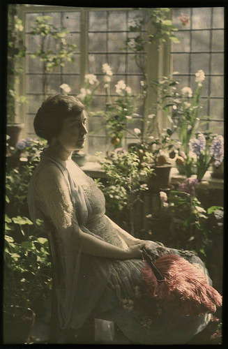 edwardianera:  Woman in greenhouse, ca 1910