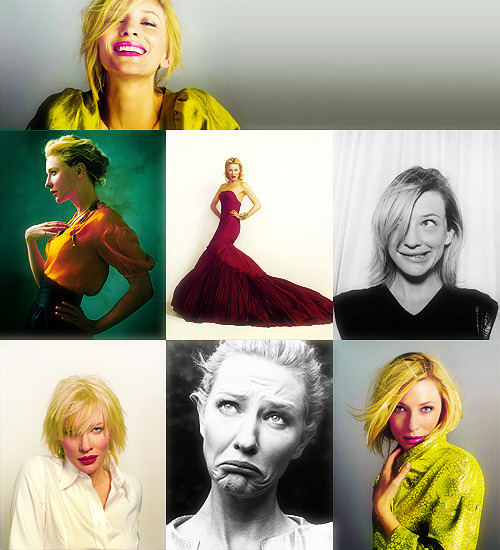 50 Fabulous Faces (In no particular order) → Cate Blanchett.