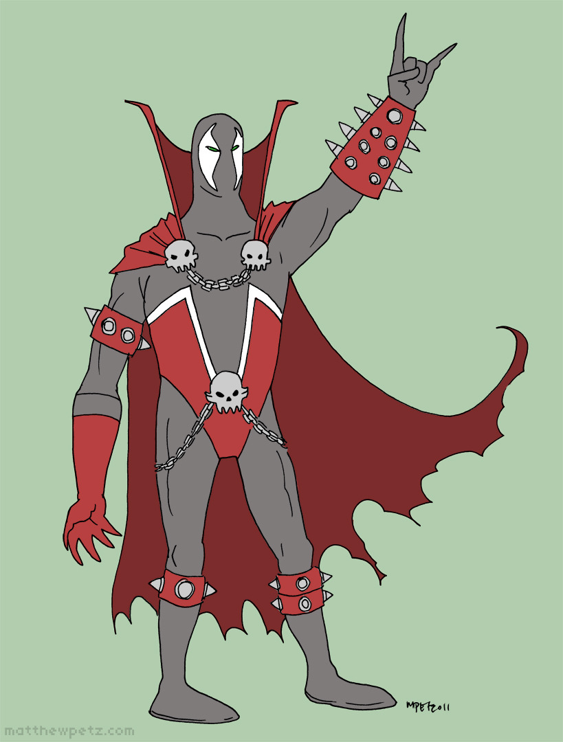 Spawn. The most metal of superheroes.