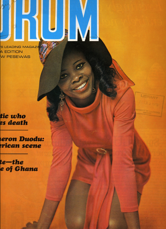 DRUM - Africa's leading magazine, Ghana Edition (1969)The leading Fashion and lifestyle magazine in the 60's. Proud of our beautiful ladies looking noble and comfortable in their skin.