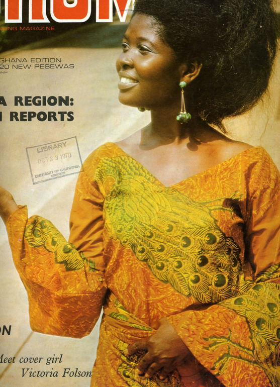 DRUM - Africa's leading magazine, Ghana Edition (1969) The leading Fashion and lifestyle magazine in the 60's. Proud, beautiful ladies looking noble and comfortable in their skin. You can also get an idea of the state of the country and Africa during that year (1969) via the headlines.