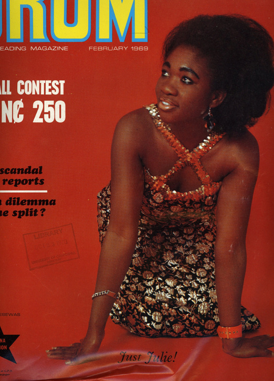 DRUM - Africa's leading magazine, Ghana Edition (1969) The leading Fashion and lifestyle magazine in the 60's. Proud, beautiful ladies looking noble and comfortable in their skin.
