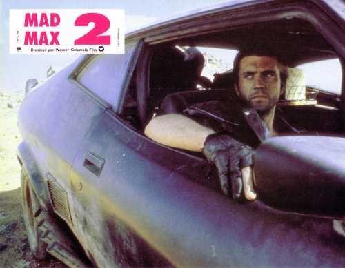 lobbycards:  The Road Warrior, French lobby card. 1981