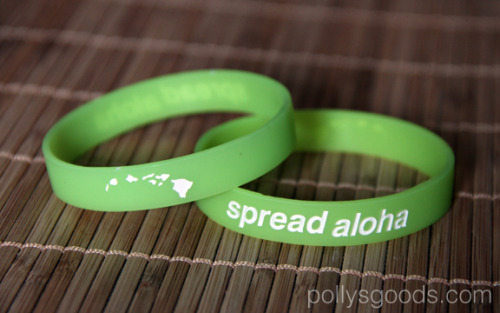 "fybeach:  fybeach:  Summer Giveaway!! We are giving away a Green ""Spread Aloha"" wrist band that we got from pollysgoods.com You must be following fybeach in order to enter the giveaway and you must also reblog this post. We will randomly choose a winner next week!!   Goodluck  Last Chance!  We will pick a winner tomorrow night 7/22"