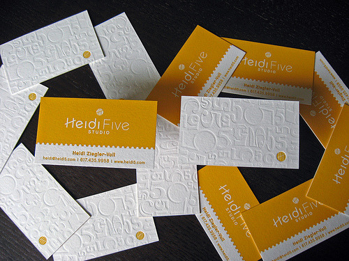 mindbloggles: #design Letterpress business cards on the Dolce Press blog. I love how they show every angle and even parts of the process.