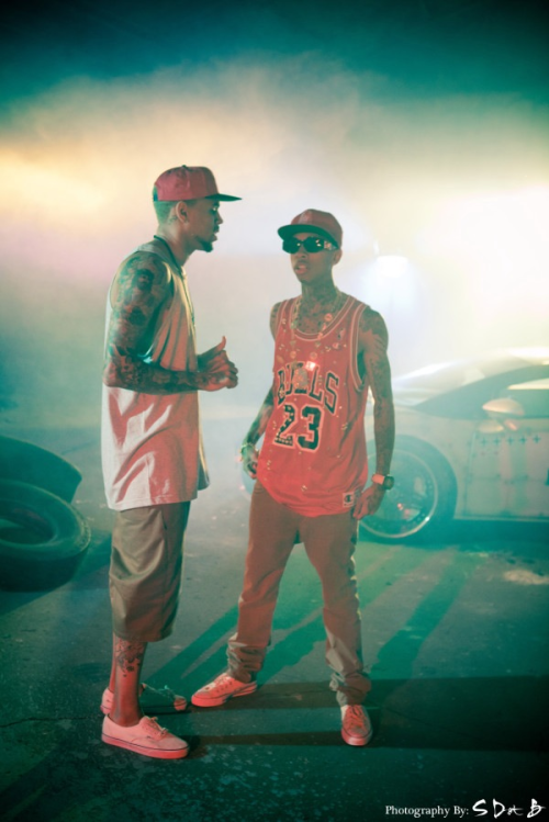 frommyroomtotheworld:  Tyga and Chris Brown by @SDOTB