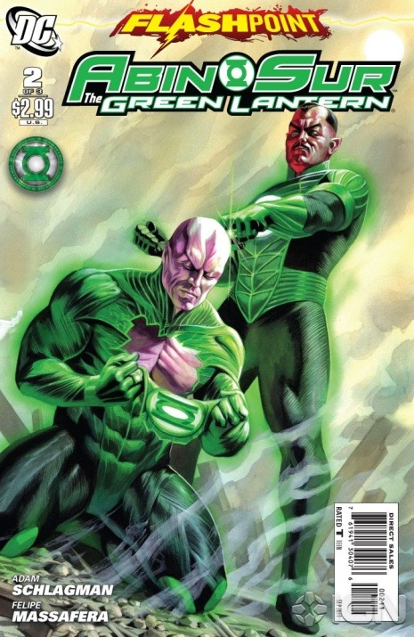 "Flashpoint: Abin Sur the Green Lantern Score: 8/10 FLASHPOINT is FLASHPOINT: ABIN SUR THE GREEN LANTER, another tie-in where issue #1 was alright but lacked that 'umph' you were hoping for. After being extremely surprised with FLASHPOINT: KNIGHT OF VENGEANCE, I was hoping to feel the same about this issue #2, but I was expecting the worst. Issue #2 opens to Abin Sur crash landed on Earth in classic Green Lantern fashion. With a shocked Hal Jordan over him, the first bomb is dropped as Abin Sur tells Hal he is going to live. Cyborg and the U.S. government quickly scoop him up take Abin to heal. Abin decides to join the relief efforts only to be confronted by long time friend Thaal Sinestro. Sinestro informs him that he has heard of a prophecy called the ""Flashpoint"" from Attrocitus (seriously when did Attrocitus become the magic eight ball of the Lantern world, first he called Blackest Night, now this…). Sinestro learns he can alter the timeline however he pleases if he finds the hero called ""Flash"". Now all that stands in his way is Abin Sur. I wasn't blow away quite as much I was with FLASHPOINT: KNIGHT OF VENGANCE #2, but this was a very good issue. It flowed much better and seemed more intense than its predecessor. The story works well and it's interesting to see Abin Sur interacting with Earthlings. All that time as the Guardian of 2814 and he never dropped by to say hello or help with a war two involving the whole world…but I digress. The art was done really well and continued to incorporate the movie style flawlessly. FLASHPOINT: ABUN SUR was a really well done issue. It read much better than issue #1, and I am looking forward to seeing how this series ends. Also, with the improvement of both FLASHPOINT: KNIGHT OF VENGANCE and FLASHPOINT: ABIN SUR GREEN LANTERN, I am really happy where these tie-ins are headed. I really hope saying that doesn't come back to haunt me with issue #3…"