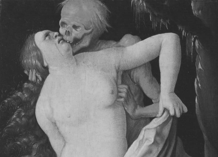 Death and the Maiden, Kiss of Death by Hans Baldung. (1517)