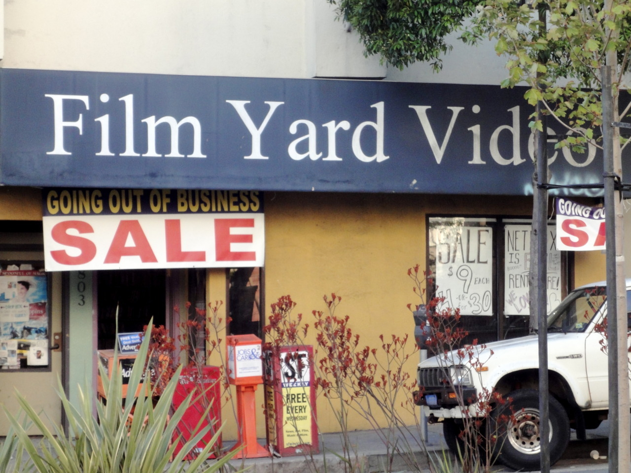 Have you ever been to Film Yard Video?  Too late now.  Bad times, Divisadero.