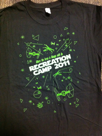 Designed the t-shirts for (Star Wars Themed) Camp ReCreation this year! { www.recreationcampoc.com }
