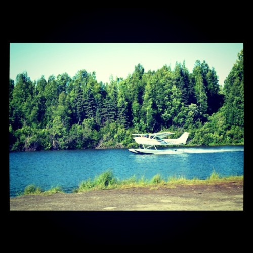 Watched a plane take off from a lake…. Mean! (Taken with instagram)