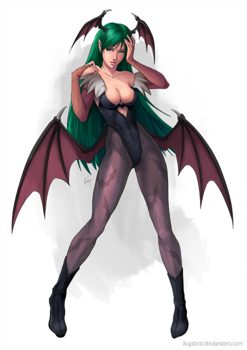 Morrigan // pencils, inks and colors by Kenny Ng (~kupbot,2011)