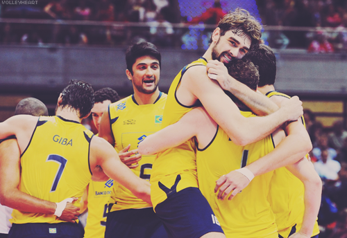 volleyheart:  6. Leandro Vissotto, 7. Giba, 16. Lucas - Brazil World League 2011