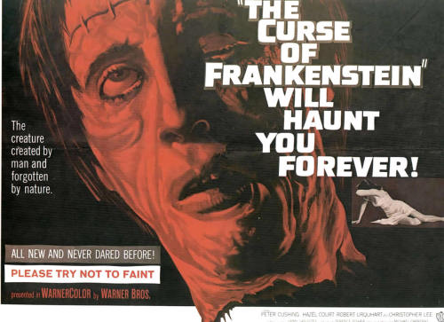 Half sheet for The Curse Of Frankenstein (1957)