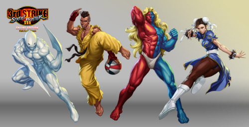 Stanley Lau's fifth set of ass kicking character illustrations for the Street Fighter III 3rd Strike Online Edition coming this summer. Check out his past Street Fighter character sets HERE. Street Fighter III OE Art 5 by Stanley Lau / Artgerm (deviantART) (Twitter)