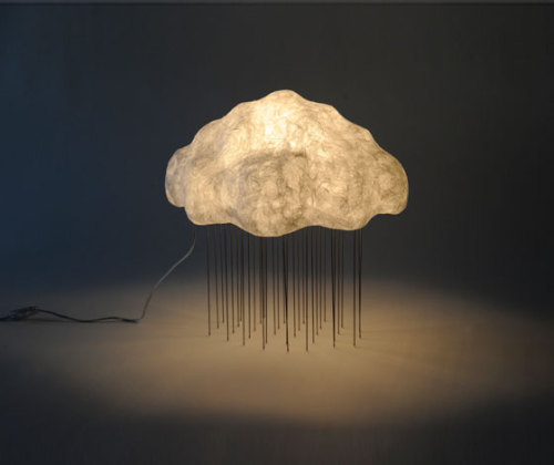 Cloud Silver Rain lamp by Tadao Shimizu  (via Daily Tonic)