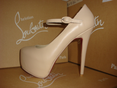 "—- Nude Christian Louboutin ""Lady Daf"" Mary Jane Pumps ♥"