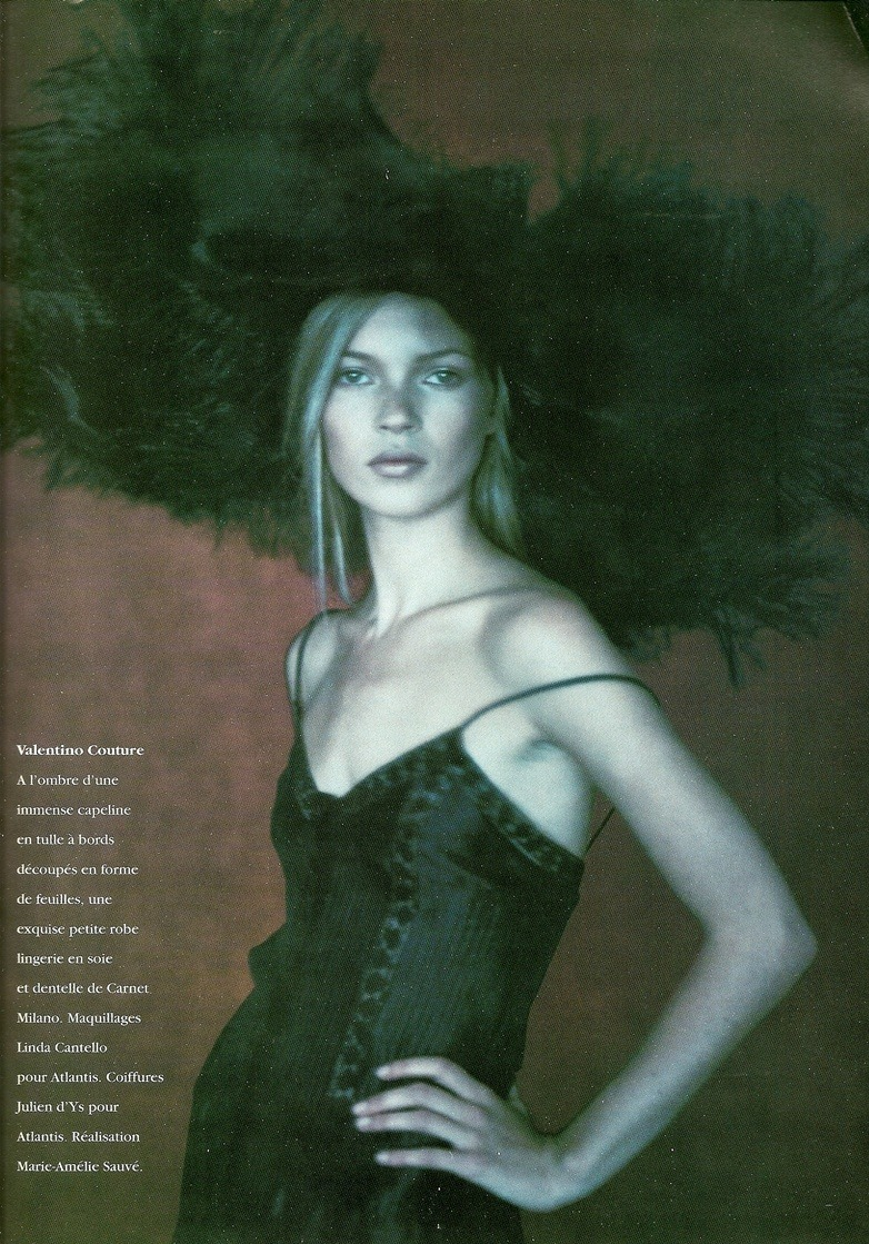 Kate Moss & Nadja Auermann photographed by Paolo Roversi - Vogue Paris: March 1994 - Femmes Oiseaux