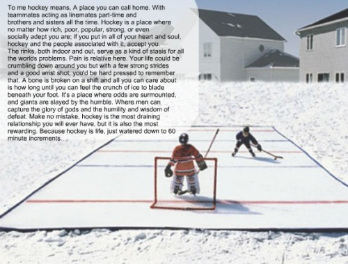 To me hockey means… by:ratherbeontheice