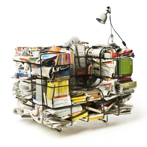 If You Don't Know What To Do With Your Old Paper News, Magazine…   Comfy Cargo Chair by Stephan Schulz