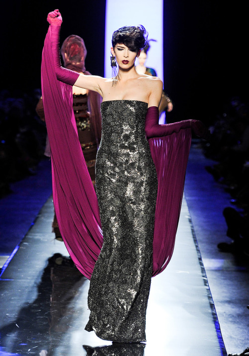 vogue:  Jean Paul Gaultier Fall 2011 Couture Photo: Yannis Vlamos / GoRunway.comVisit Vogue.com for the full collection and review.