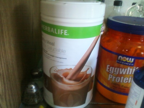 Herbalife shake and a cup of coffee
