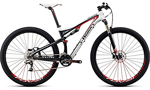Dream bike #2: Specialized S-Works Epic 29er. Just 22lbs for a full-suspension mountain bike. Ridden for two world cup wins by Czech rider Jaroslav Kulhavy.