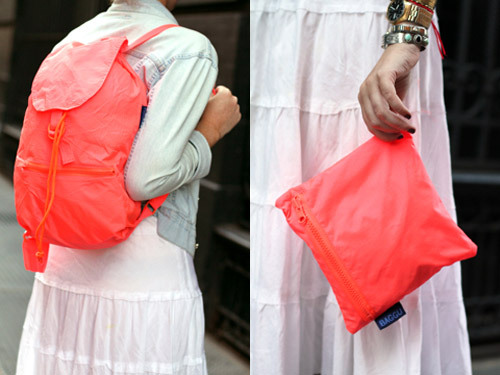 Baggu Daypack worn two ways.Photo: Janelle Jones