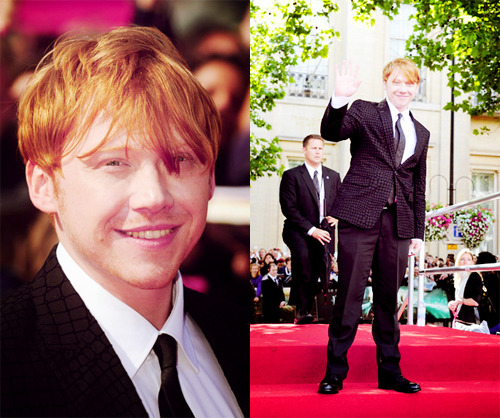 Rupert Grint at the world premiere of Harry Potter and the Deathly Hallows Part 2.